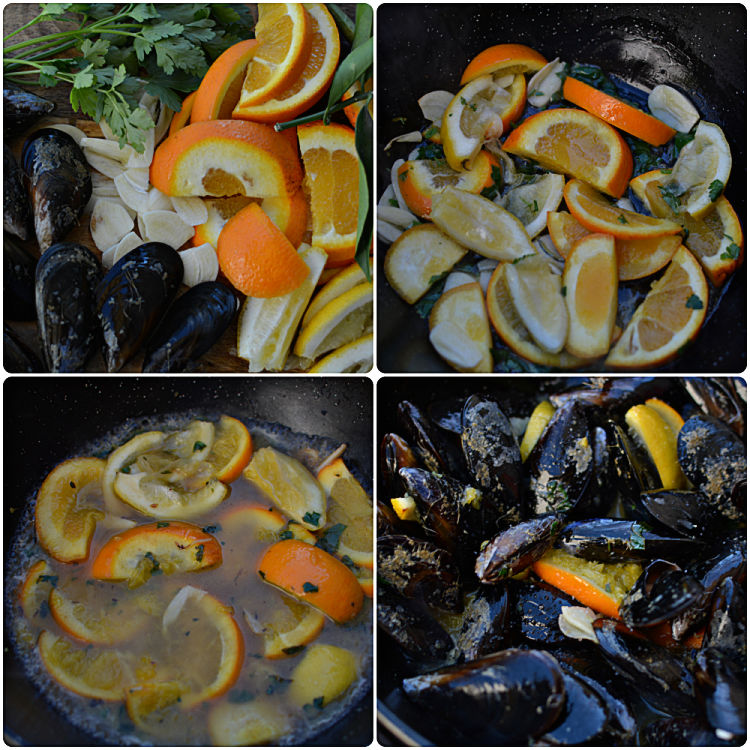 Collage Mejillones Con Citricos Y Vino Blanco 1
