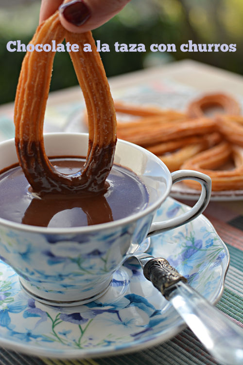 Chocolate a la taza con churros